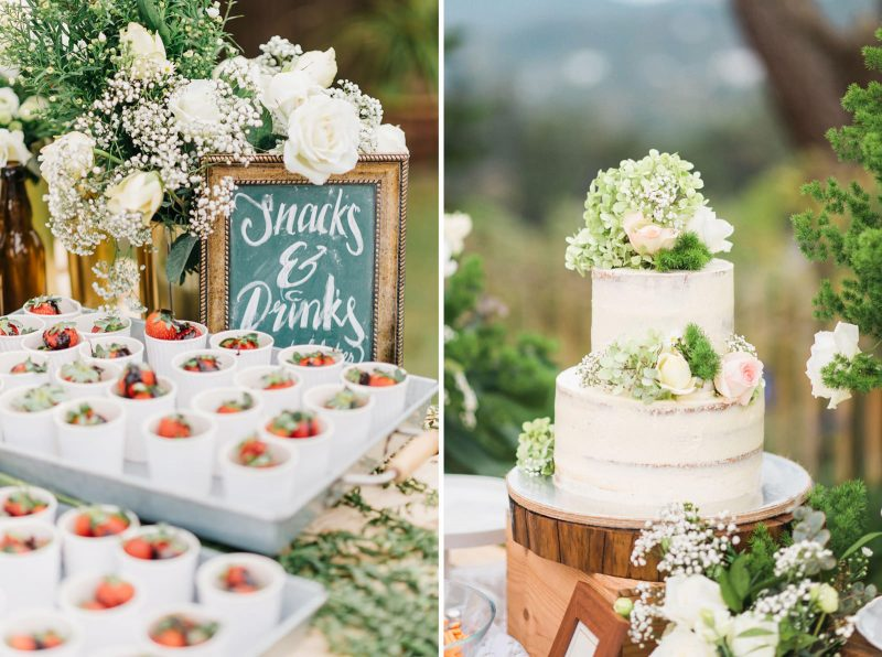 beautiful garden wedding with a unique steamboat dinner setup in ...